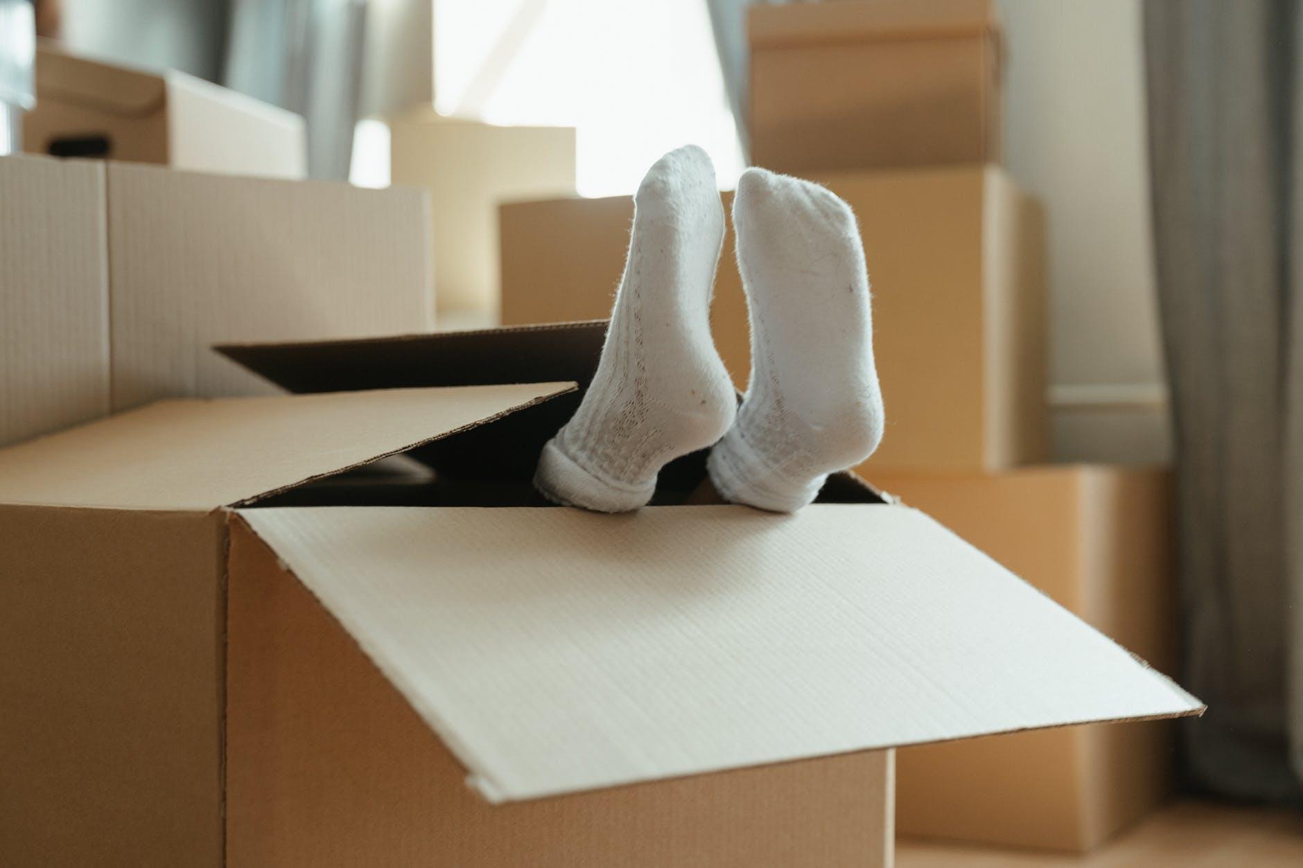 white socks on white paper